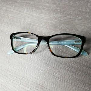 Ralph Lauren tortoise and turquoise glasses frames